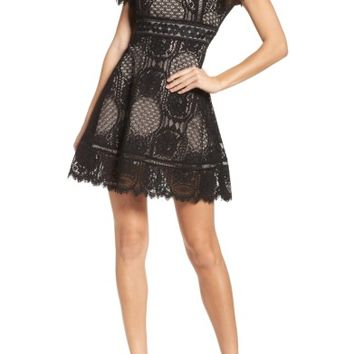 BB Dakota Lace Fit & Flare Dress | Nordstrom