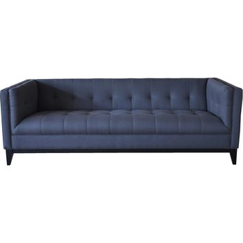 Pancini Sofa Tufted Dark Grey Fabric