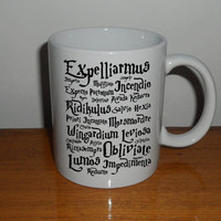 Harry Potter Magic Spells Mug coffee, mug tea, size 8,2 x 9,5 cm