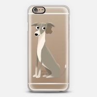 Greyhound Dog (Clear) iPhone 6 case by Cassandra Gibbons | Casetify
