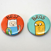 Adventure Time Best Bros Button - 1.5 inch - 2 buttons