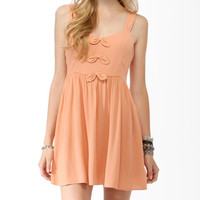 Textured Bow Trio Dress