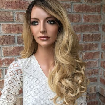 Michelle Blonde Curls Lace Front Wig 22""