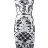 Hervé Léger baroque print bodycon dress