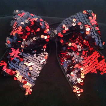 3 3 inch cheer cheerleader bowBLING red and by blingitoncheerbows