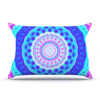 "Iris Lehnhardt ""Summer Colors"" Pink Blue Pillow Sham"