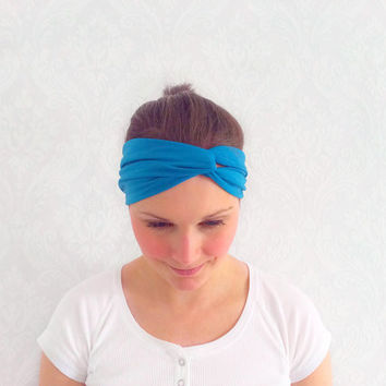 Teal Turban Headband, Stretchy Twist Headband, Fashion Hair Accessories, Head Wrap, Turban, Ear Warmer, Sweatband, Turband, Teen Gift Idea