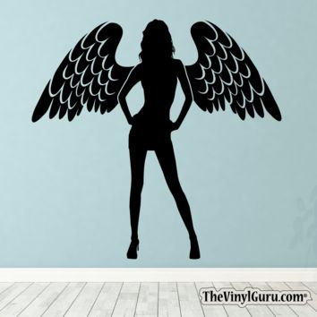 Sexy Angel Pin-Up Girl Wall Decal II