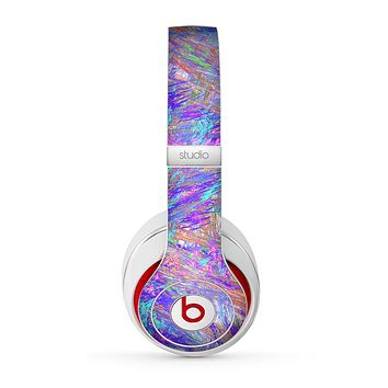The Abstract Colorful Oil Paint Splatter Strokes Skin for the Beats by Dre Studio (2013+ Version) Headphones