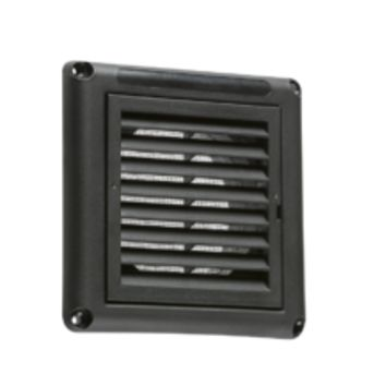 "KB EX009B 100MM/4"" EXTRACTOR FAN GRILLE WITH FLY SCREEN - BLACK"