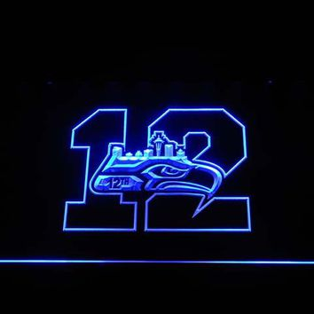 b1581 Seattle Seahawks 12th Man LED Neon Sign