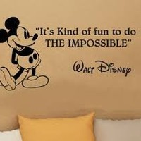 It's Kind of Fun to Do the Impossible Disney Quote Wall Decal Art Sticker Vinyl Decoration Decor Wall Stickers Decals
