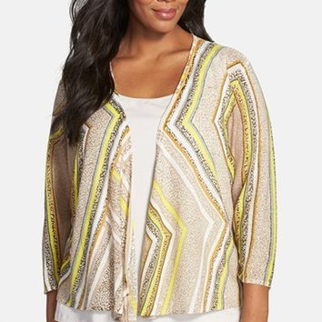 Plus Size Women's NIC+ZOE 'Beaming' Four-Way Convertible Cardigan,