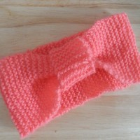 Handmade Knitted Headband Pink on Luulla