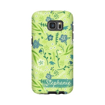 Floral Galaxy S7 Edge case/S7 case, flowers Galaxy S6 Edge Plus case, 6S Edge, floral galaxy S5 case, 3D Galaxy Note 5 tough case