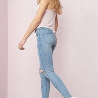 Paris Blue Retro High Waist Jegging