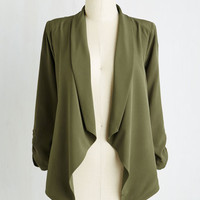 Mid-length 3 Marketing Maven Blazer in Pine