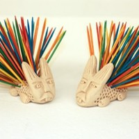 Porcupine Toothpick Holder by aplusl on Etsy