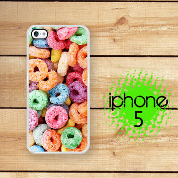 Fruit Cereal Loops of Fruit  | Hard Case For iPhone 5 Kawaii Food Plastic or Rubber Trim