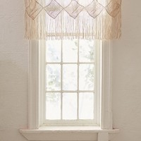 Harlow Macramé Valance | Urban Outfitters
