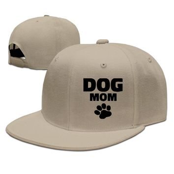 Dog Mom Funny Unisex Adult Womens Baseball Cap Mens Hip-hop Hat