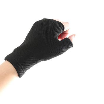 1 Pair Women Lady Elastic Palm Hand Wrist Supports Arthritis Brace Sleeve Protected Wrist Gloves Mittens