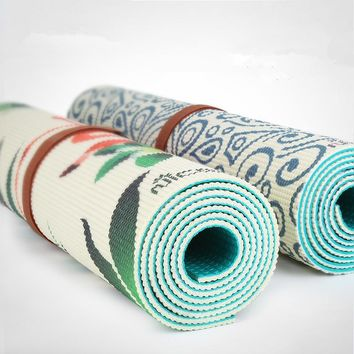Two Sided Double Color PVC Sports Printing Yoga Mat