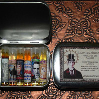 6 sample size Gothic Victorian Artisan Mens Fragrance Oils of your choice e