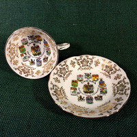 Paragon Teacup Canada Coats of Arms & Emblems- Very Nice - Fine Bone China England