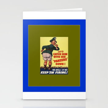 anti hitler/ww2 Stationery Cards by Kathead Tarot/David Rivera