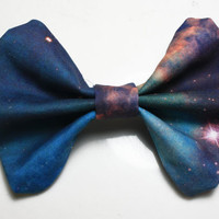 Galaxy Printed Hair Bow version 2 by BiancaParisTaylor on Etsy
