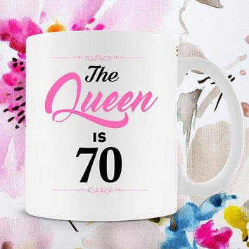 70th Birthday Gift Ideas For Women 70th Bday Gift 70th Birthday Mug Bday Present Best Coffee Cup B Day Gift 70 Years Old Ceramic Mug - BG264
