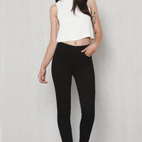 PacSun Mallary Black Mid Rise Skinny Jeans at PacSun.com