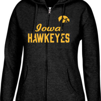 Women's J. America Iowa Hawkeyes College Cotton Full-zip Hoodie | Finish Line