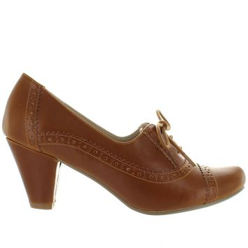 Chelsea Crew Mission - Tan Mid-Heel Oxford