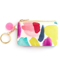 ban.do zip zip keychain pouch brushstrokes