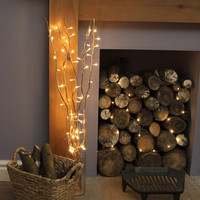 LED Lighted Natural Willow Branches - 39""
