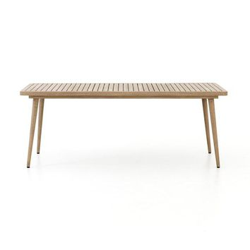 Rusley Outdoor Mid Century Teak Dining Table - Natural