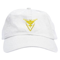 Pokemon GO Team Yellow Instinct Dad Hat
