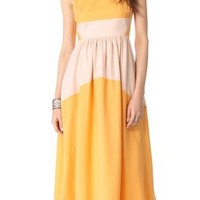Tibi Colorblock Maxi Dress | SHOPBOP
