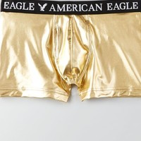 AEO Men's Foiled Low Rise Trunk (Gold)