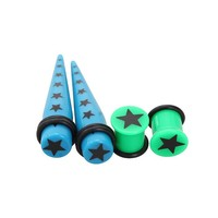 Morbid Metals Blue Green Star Taper And Plug 4 Pack - 384995