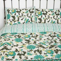 Magical Thinking Palace Floral Sham - Set Of 2- Turquoise One