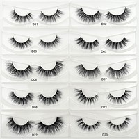 Lash Eyelashes 3D Real Mink Lashes HandMade Thick Natural False Eye Lashes Makeup Glitter Packing D-Series 11 Styles