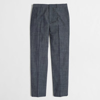Factory slim Thompson suit pant in chambray