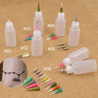 Tattoo Bottle Henna Painting Nozzle Applicator Drawing Bottle With Sealing Cap Body Paint Different Sizes Needles