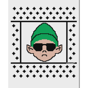 "Cool Elf Christmas Sweater Aluminum 8 x 12"" Sign"