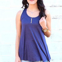 Go with the Flow Basic Tank {Navy}