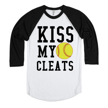 Kiss my cleats softball baseball  tee t shirt
