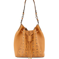 Visetos Drawstring Bag, Gold - MCM